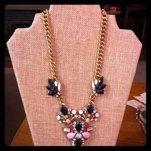 J Crew midnight multicolor crystal necklace